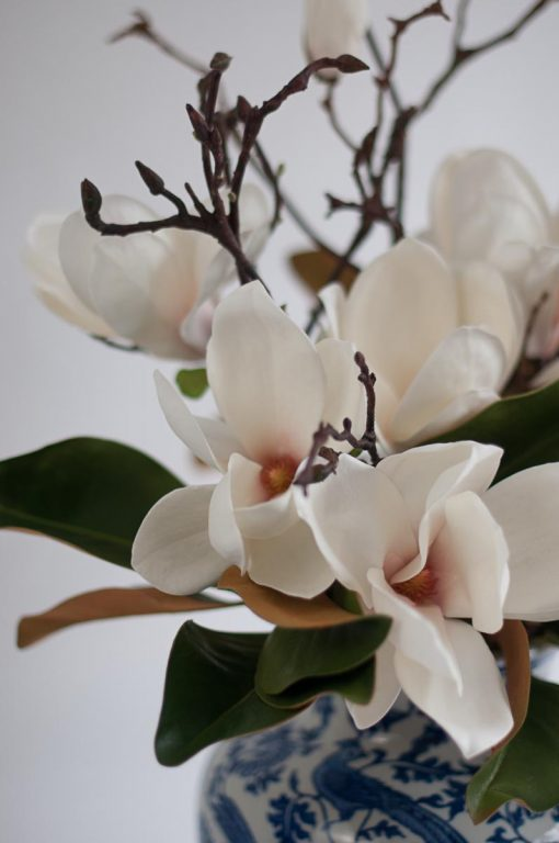 Secret Blooms Ava Artificial Flowering Magnolia