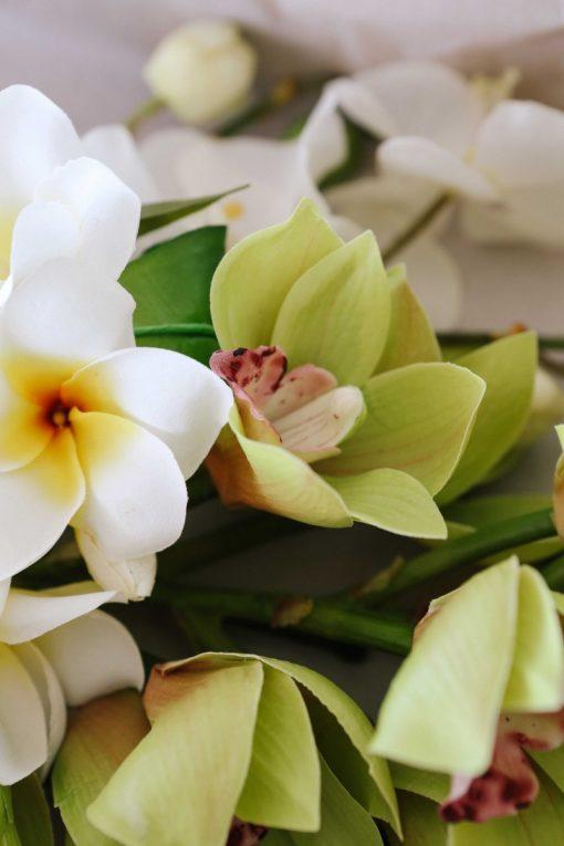 Secret Blooms Artificial Frangipani Cymbidium
