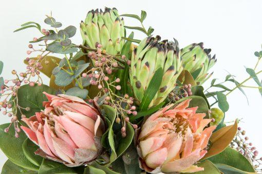 Blushing Nicole Secret Blooms Faux Native Flower Arrangement