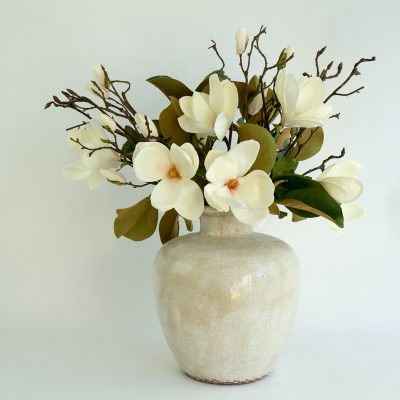 Secret Blooms Ava Artificial Magnolia Arrangement