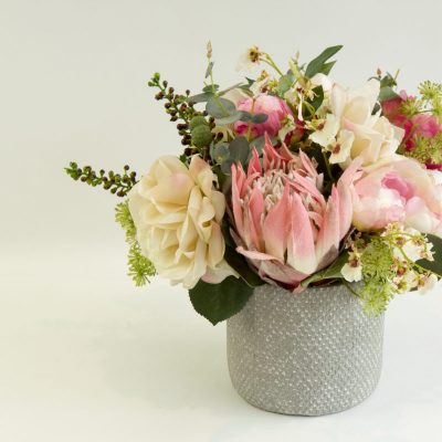 Secret Blooms Imogen Artificial Pink Protea arrangement