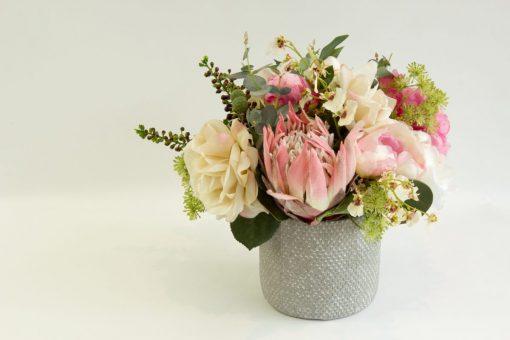 Secret Blooms Imogen Artificial Pink Protea arrangement
