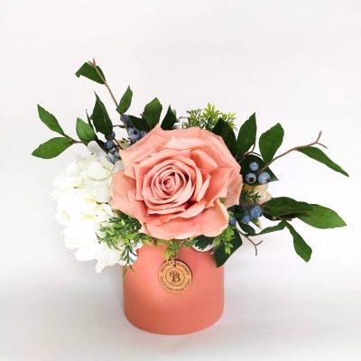 Secret Blooms Ottilie Artificial Rose and Hydrangea Arrangement