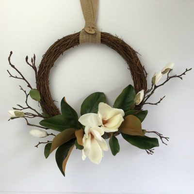 Secret Blooms Magnolia Wreath