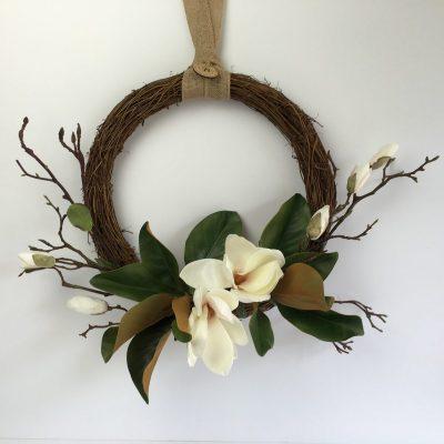 Secret Blooms Magnolia Wreath