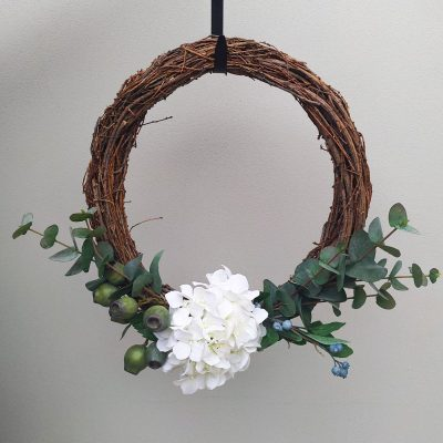 Secret Blooms Artificial Hydrangea Wreath