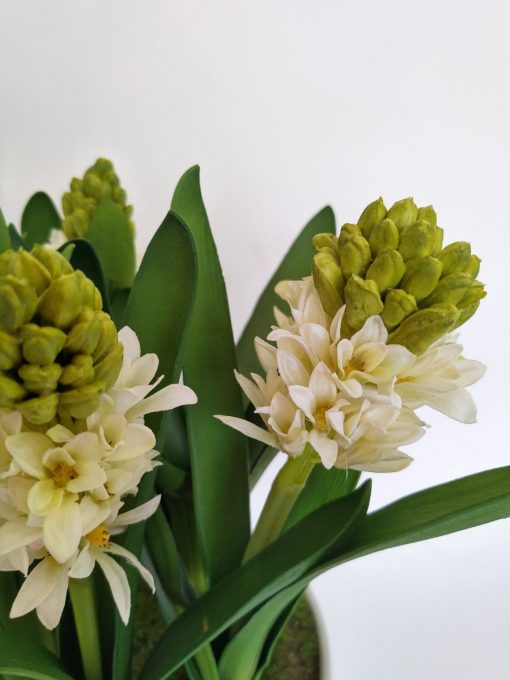 Secret Blooms Helen Artificial Hyacinth Flower Arrangement