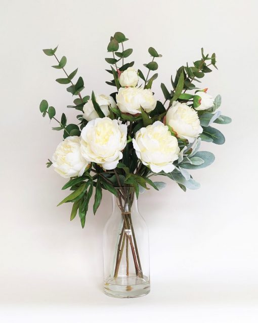 Secret Blooms Penelope Fake Peonies Flower Arrangement