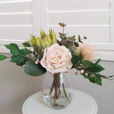 Secret Blooms Pippa Artificial Rose and Protea