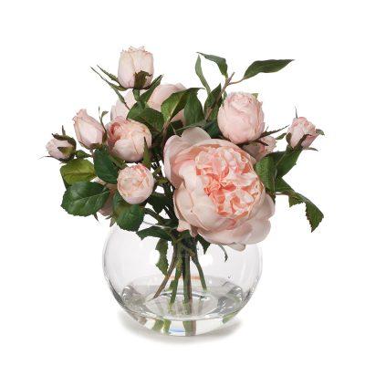 Garden rose small artificial arrangement