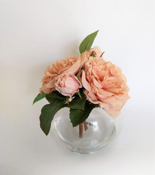 Secret Blooms Blushing Rosie real-touch garden roses