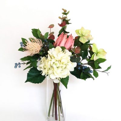 Secret Blooms Nicky artificial protea hydrangea hellebores