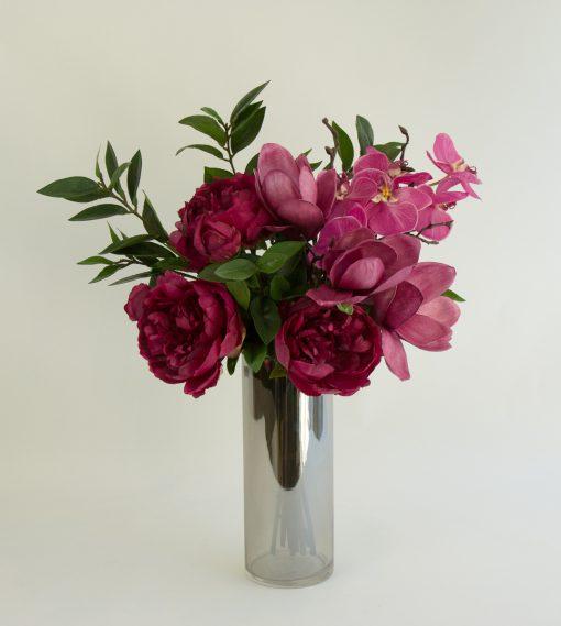 Secret Blooms Mira Artificial Peonies, Magnolia, Phalaenopsis Orchid