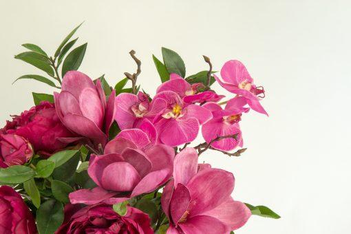 Secret Blooms Mira artificial fuschia flower arrangement