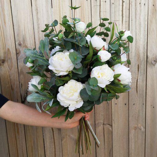 Penelope Realistic Peonies Hand-Tied Bouquet