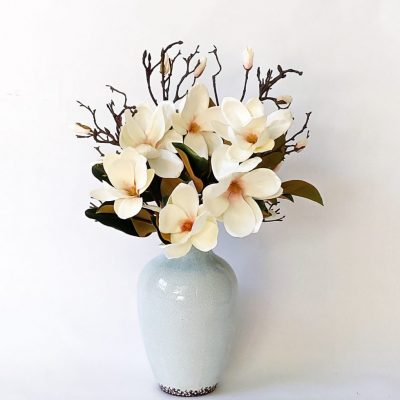 Secret Blooms Ava Ice Aqua Vase