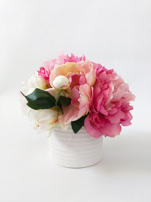 Artificial-Peony-Pink-Table-Arrangement