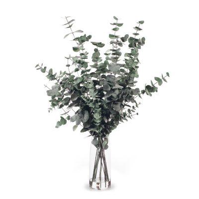 Real touch tall Eucalyptus vase arrangement resin