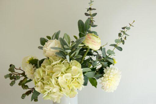 Artificial contemporary tall vase arrangement