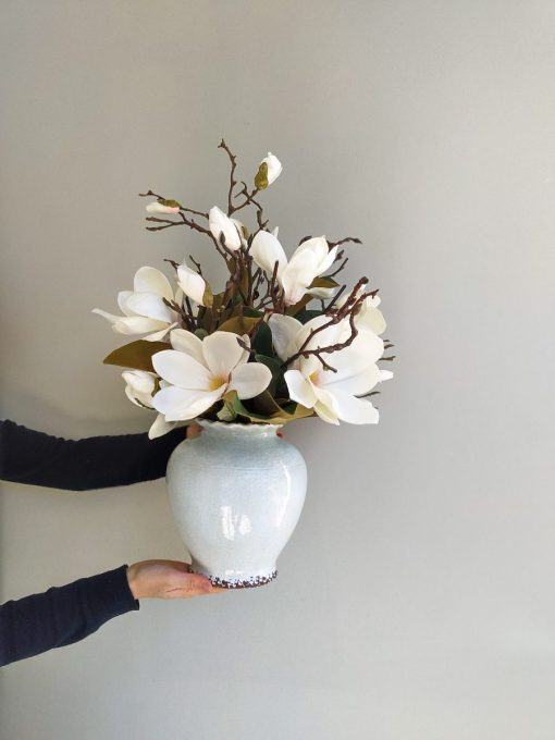 All round artificial medium arrangement magnolia