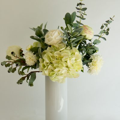Artificial Hydrangea Rose Dahlia tall vase arrangement