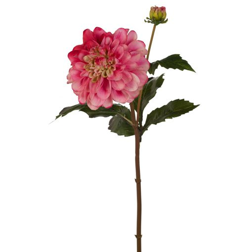 Real touch Dahlia Pompom flower stem