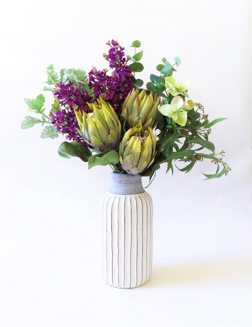 Protea-Lilac-Bright-Native-Tall-Arrangement