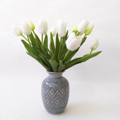 Real-fresh-touch-tulips-vase-arrangement