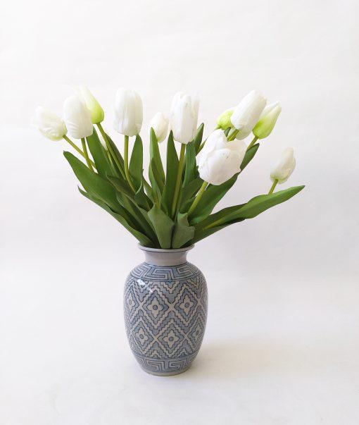 Real-fresh-touch-tulips-vase-arrangement