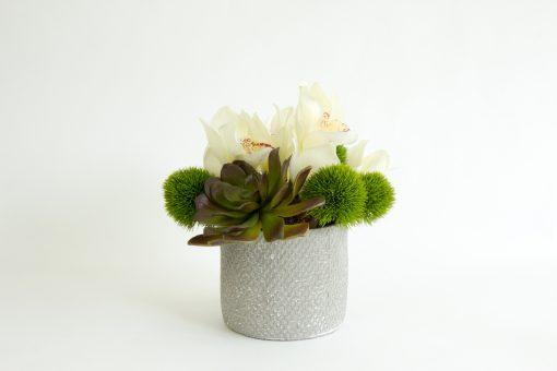 Artificial-orchid-succulent-table-arrangement