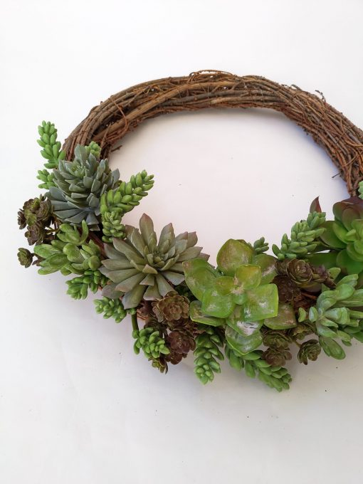 Artificial-Succulent-Wreath