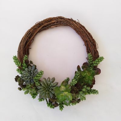 Artificial-Succulent-Wreath