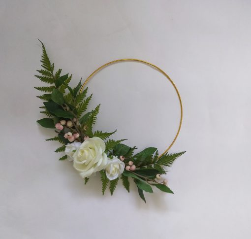 Rose-Fern-Hoop-Wreath
