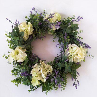 Artificial-Hydrangea-Lavender-Wreath