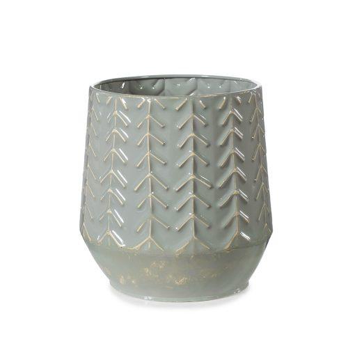 Sage-coloured-metal-vase-pot
