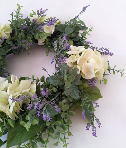 Faux-Lavender-Hydrangea-Wreath