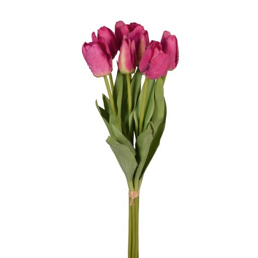 Real-touch-fuschia-tulip-bunch