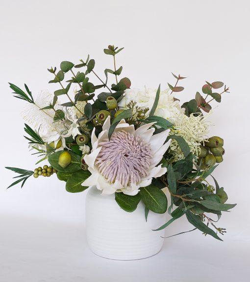 Artificial-cream-native-flower-arrangement