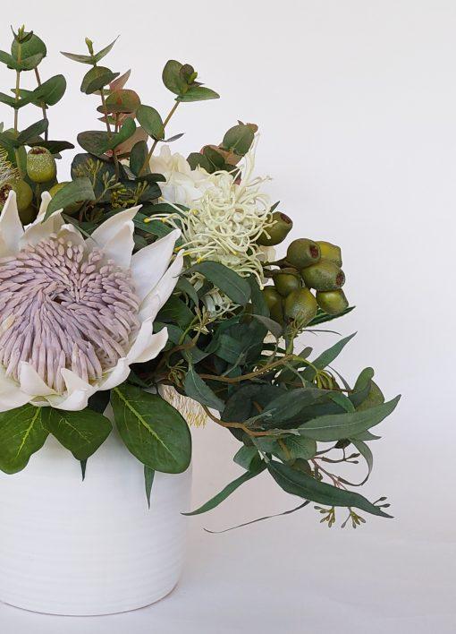 Artificial-cream-king-protea
