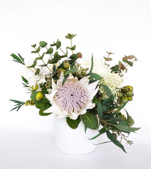 Faux-white-native-flower-arrangement
