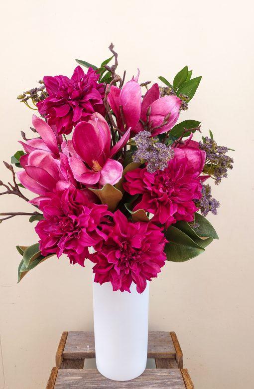 Artificial-Dahlia-Magnolia-Arrangement
