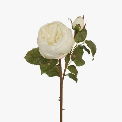 Real-touch-garden-rose-white