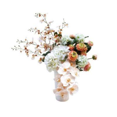 Real-touch-Phalaenopsis-Ranunculus-Arrangement