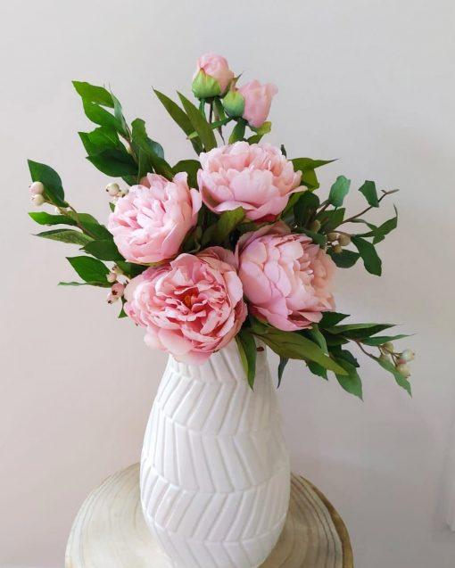 Pink-Peonies-vase-arrangement
