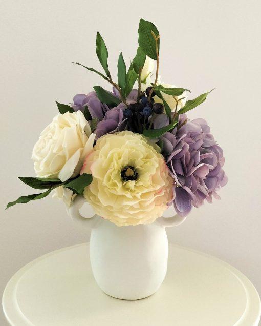 artificial-garden-flowers-blue-vase-arrangement