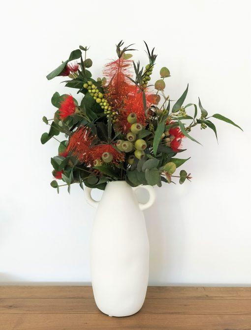 Festive-red-flower-arrangement