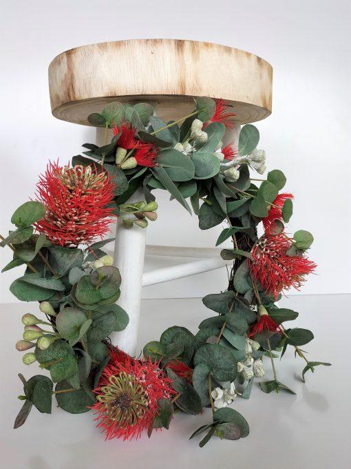 Artificial-Protea-Christmas-Wreath
